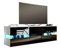 Szafka RTV stolik pod tv w połysku biały/czarny