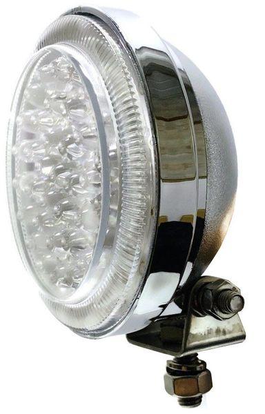LAMPA LED DALEKOSIĘŻNA OKRĄGŁA CHROMOWANA 12V 24V na Arena.pl