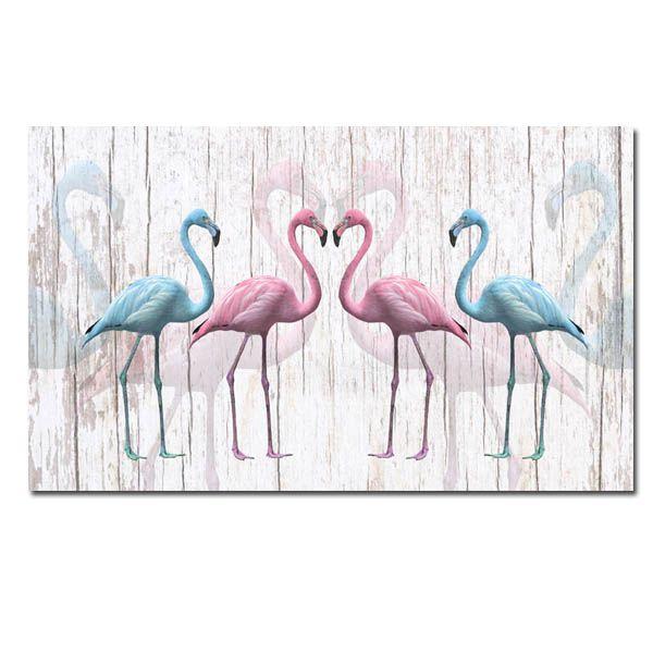 Obraz Flamingi 5 120x70cm Ptak Ptaki Flamingi Arenapl