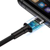 Baseus Cafule kabel przewód USB Typ C SuperCharge 40W Quick Charge 3.0 QC 3.0 1m czarno-czerwony (CATKLF-P91) zdjęcie 8