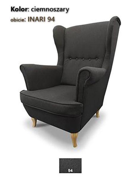 Fotel Uszak Skandynawski - stylowy design zdjęcie 9