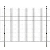 VidaXL 2D Panele i słupki ogrodzeniowe 2008x1630 mm 4 m srebrne