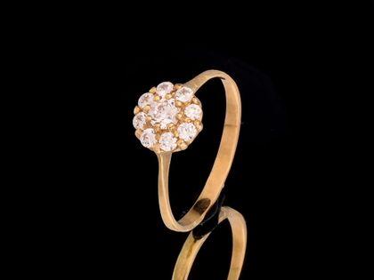 P483 Złoty pierścionek z cyrkoniami 585 /Jubi