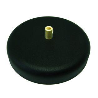 Podsufitka Maskownica Sufitowa fi 135mm czarna z hamulcem mosiądz