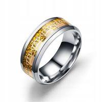 Obrączka sygnet pierścień korona złota
