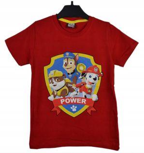 Koszulka Psi Patrol czerwona, bawełna roz.122