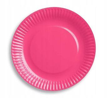 Talerzyki różowe 18cm Roczek Urodziny 6 szt
