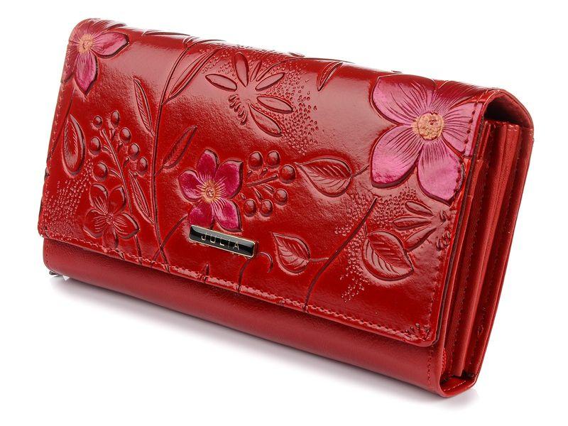 0bf7e9016bf95 J.Rosso duży skórzany portfel włoski damski kwiaty U73 • Arena.pl