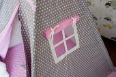 Namiot Tipi Softfun pink night mata + 3 poduszki bawełna MINKY zdjęcie 3