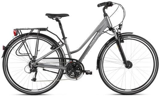 """Kross Trans 4.0 28 M 17"""" rower grafitowy/biały połysk 12"""