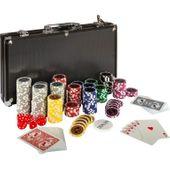 Zestaw do pokera 300 szt żetonów BLACK EDITION 1 - 1000 M02643