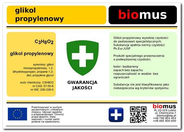 Gliceryna roślinna 1kg + Glikol Propylenowy 1l na Arena.pl