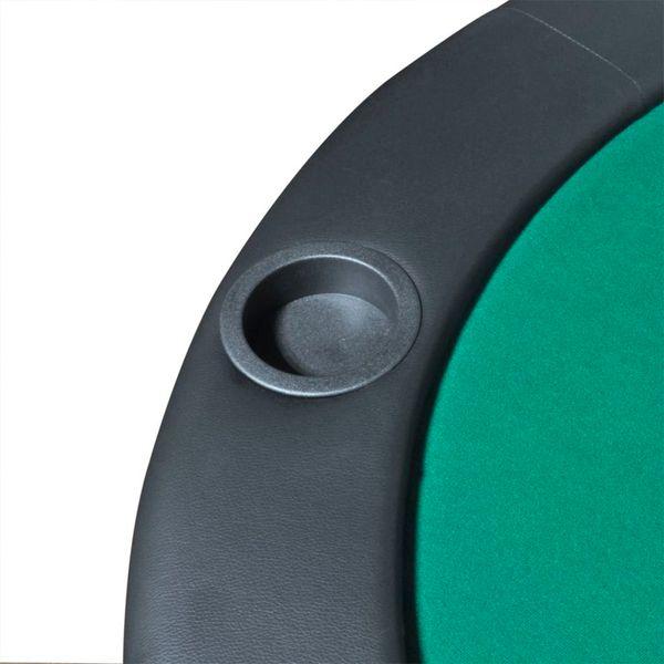 Składany blat do pokera dla 10 graczy, zielony zdjęcie 5