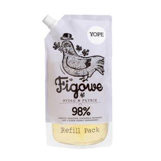 Naturalne Mydło Kosmetyczne Figowe Refill - 500ml marki Yope