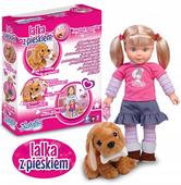 Lalka Natalia INTERAKTYWNA z PIESKIEM Mówi PL
