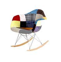 Krzesło bujane patchwork DSW rar KOLOROWY C-455