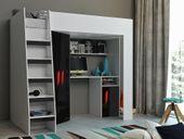 Łóżko piętrowe FIGO antresola szafki zestaw RIBES zdjęcie 2