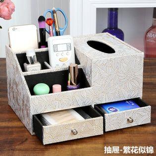 Skórzany  Organizer Kosmetyczny - Na Biżuterię Z Szufladami prop flower M