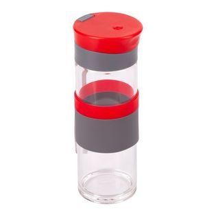 Szklana butelka Top Form 440 ml, czerwony
