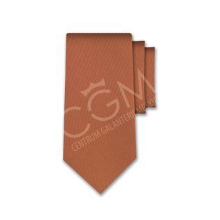 Krawat jednolity brązowy - ceglasty