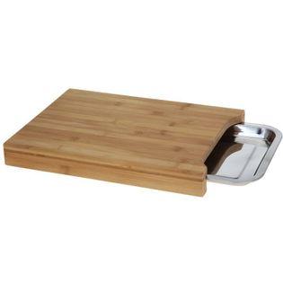 Bambusowa Deska Do Krojenia 35 X 25Cm Z Wysuwaną Tacą Eh Excellent Houseware
