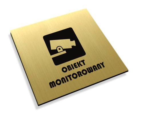 Tabliczki informacyjne na drzwi piktogram obiekt monitorowany na Arena.pl