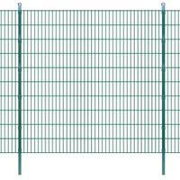 Panele ogrodzeniowe 2D z słupkami - 2008x2030 mm 36 m Zielone VidaXL