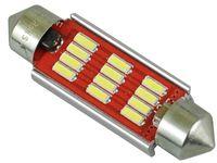 najmocniejsze żarówki LED do wnętrza 10x42 mm 42mm 12 x 5730SMD 12v