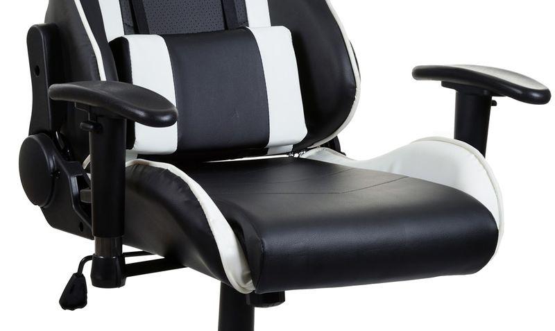 Fotel biurowy GIOSEDIO czarno-biały,model GSA042 zdjęcie 3