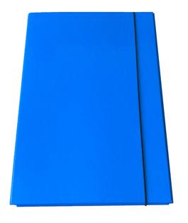 Teczka na gumkę A4 2cm tekturowa błękitna