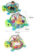 Duża Mata Edukacyjna Żółwik 3w1 Kojec z piłeczkami zdjęcie 8