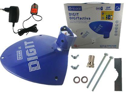 Antena Telmor Digit Activa aktywna dvb-t zasilacz (niebieski)