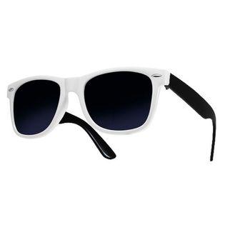 Okulary przeciwsłoneczne WAYFARER nerdy kujonki # BIAŁO-CZARNE