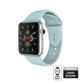 Crong Liquid Band - Pasek do Apple Watch 38/40 mm (miętowy)