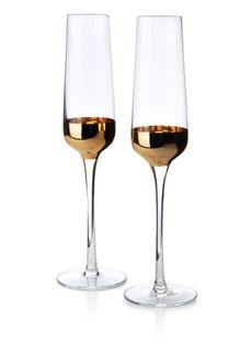 Lumarko Mirella gold kpl.2 kieliszków do szampana 190ml!