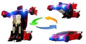 Transformer auto robot sterowany pilotem / ręką USB CZERWONY Z181C zdjęcie 2