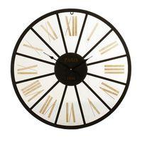 Zegar Ścienny Czarny Metal Złoty Metal (60 x 4,5 x 60 cm)