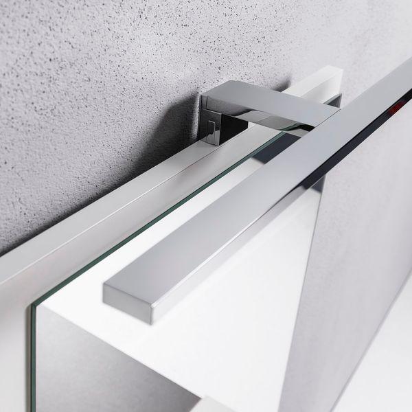 Biała szafka z lustrem do łazienki lewa, z 3 półkami, nowa zdjęcie 8