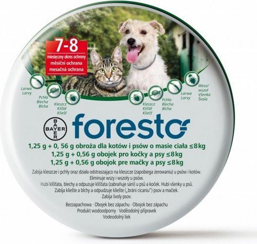 BAYER Foresto Obroża dla kotów i psów poniżej 8kg zdjęcie 1