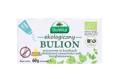 Bulion warzywny w kostkach o obniżonej zawartości soli bez oleju palmowego BEZG. BIO 60 g