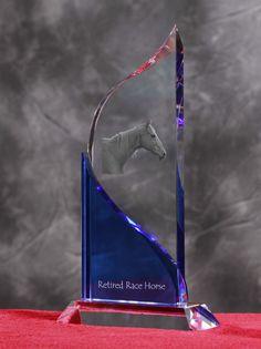 Retired Race Horse- Kryształowa statuetka z podobizną konia.