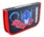 Dwuklapkowy Piórnik z wyposażeniem Transformers
