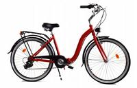 """Rower Dallas Składak Alu 26"""" 7spd - czerwony z czarnym"""