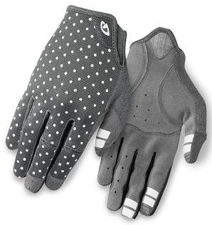Rękawiczki damskie GIRO LA DND długi palec dark shadow white dots roz. XL (obwód dłoni 205-210 mm / dł. dłoni 196-205 mm) (NEW)