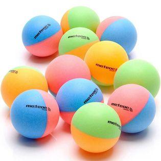 Zestaw 12 piłeczek do ping ponga Meteor Rainbow kolorowe 15025