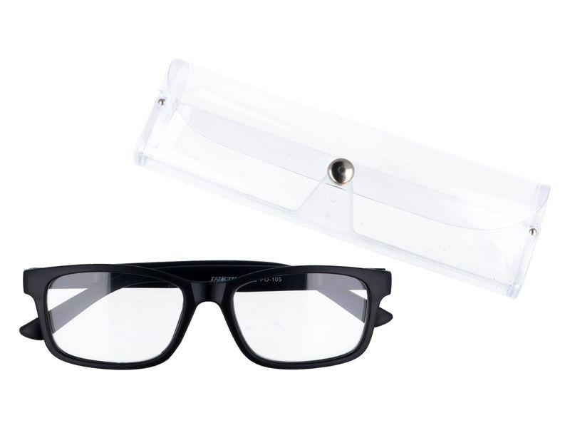 Korekcyjne okulary do czytania czarne plusy +3.50 zdjęcie 1
