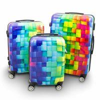 17008 Set walizek CUBE zestaw 3 szt poliwęglan XL L M set