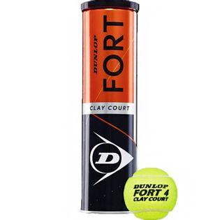 Piłki do tenisa ziemnego Dunlop Fort Clay Court 4szt