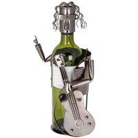METALOWY stojak na wino GITARZYSTA retro PREZENT