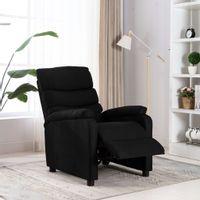 Rozkładany fotel, czarny, tapicerowany tkaniną